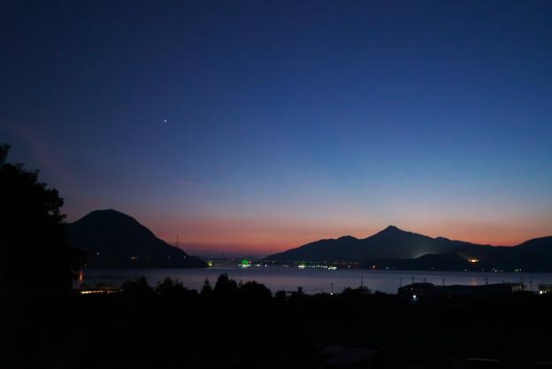 一番星の夕空