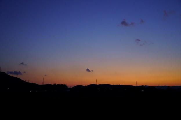 余田の夕暮れ