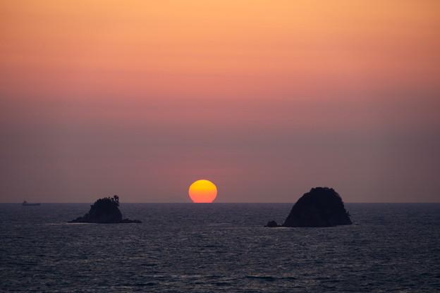 叶島の夕陽
