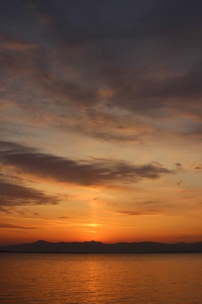 琵琶湖の夕陽