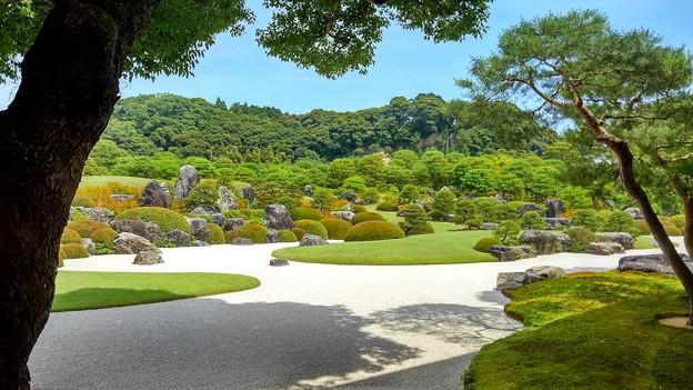 枯山水庭(亀鶴の滝)
