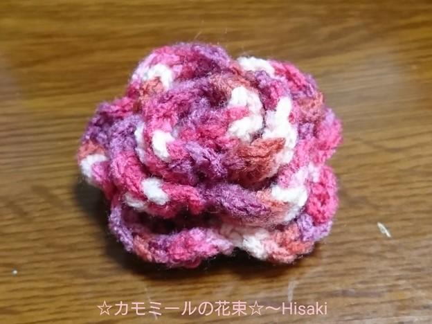 毛糸のバラ♪