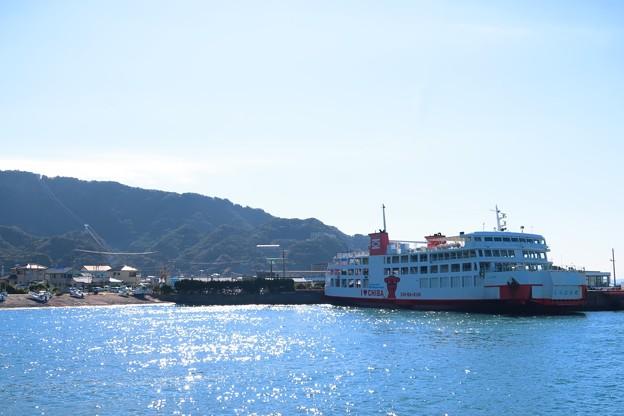 金谷港と鋸山