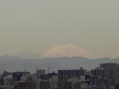 雪化粧の浅間山