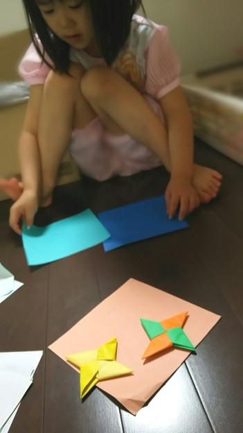 (--)/===卍 #折り紙 #子供 #姪っ子