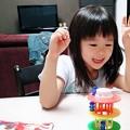 Photos: 本気でやってもモカ(6才)に勝てない。。。ゲーム