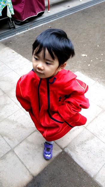 服でかい #子供 #甥っ子 #動き #足 w