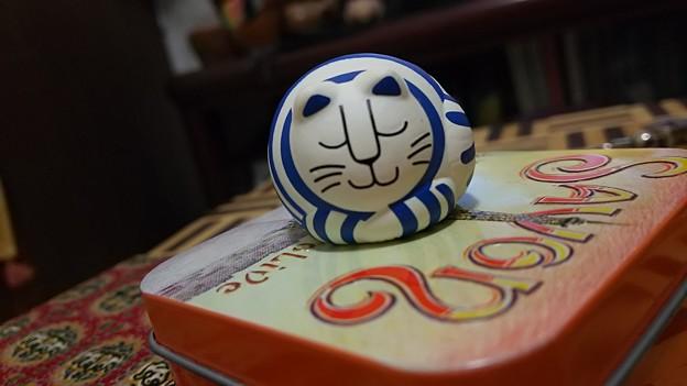 同じノ2コデタ #癒し #リサラーソン #猫 #ガチャポン #ガチャガチャ