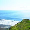 写真: 平安名崎灯台にて