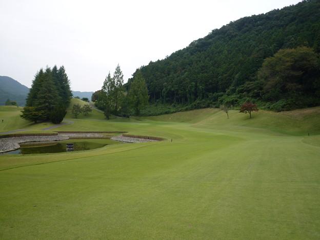 足利城ゴルフ倶楽部コース画像13番ロング2015.10.10