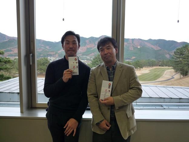 足利カントリークラブAクラスラストコール杯競技終了後優勝Jrと6位寺さん2015.12.6
