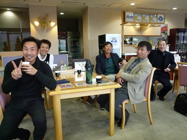 足利カントリークラブAクラスラストコール杯競技終了後のJr・任さん・親さん・寺さん・若様2015.12.6