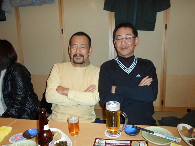 アシカンファミリー忘年会のK氏と茂ちゃん2015.12.29