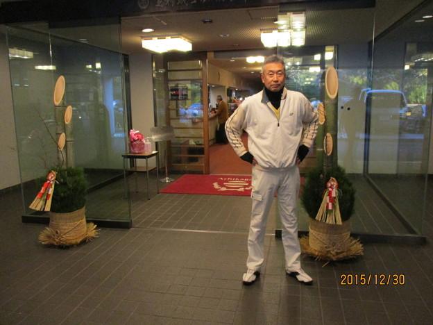 足利城ゴルフ倶楽部のお正月の門松