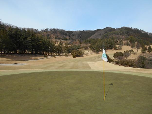 写真: 足利城ゴルフ倶楽部1番ロングホール2016.1.23