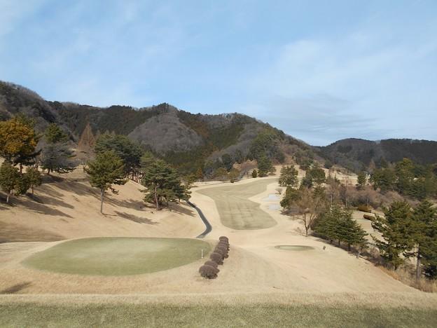 写真: 足利城ゴルフ倶楽部9番ロングホール2016.1.23