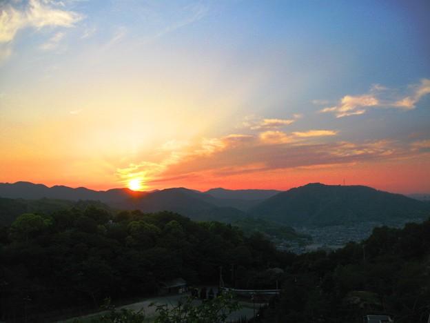 さつき亭から観た瀬戸の夕日-5
