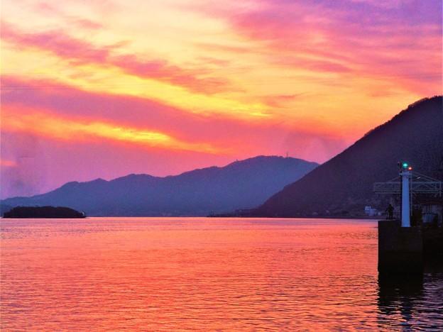 新春・大寒の夕景@静謐の海@瀬戸内海・燧灘