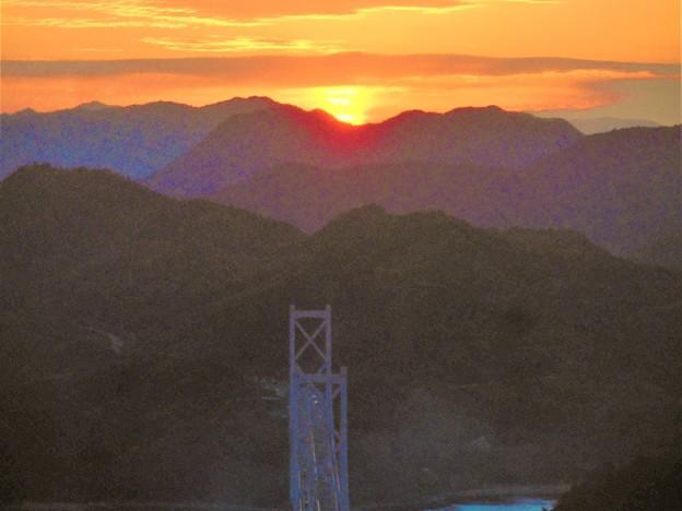 冬のしまなみ海道夕景色@高見山展望台