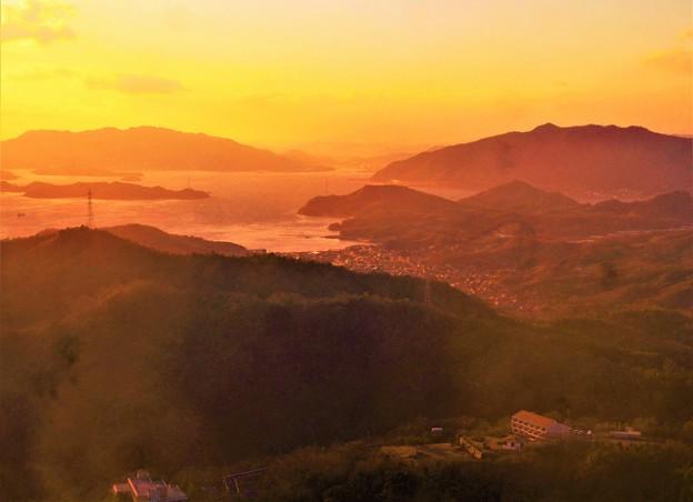 新春の瀬戸の夕暮れ@高見山展望台@岩子島・三原方面