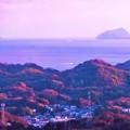 写真: 夕暮れの瀬戸内海・燧灘@瑠璃山展望台