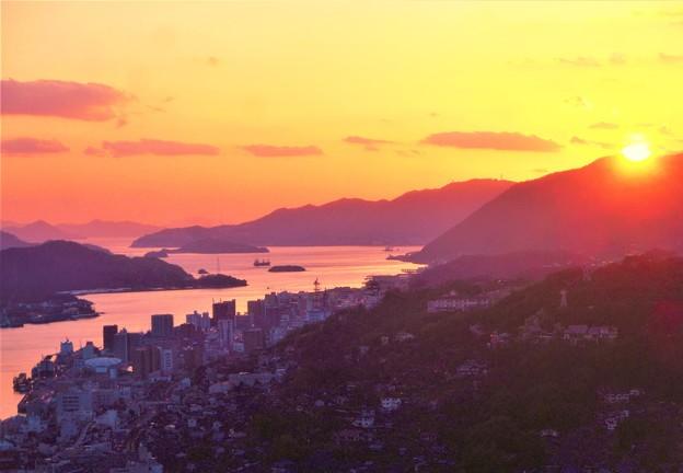 瑠璃山の夕陽@浄土寺山展望台