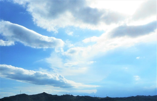 初夏の青空と白い雲@フジの屋上