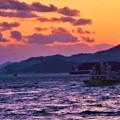 Photos: 夕暮れの海@荒れた燧灘(ひうちなだ)