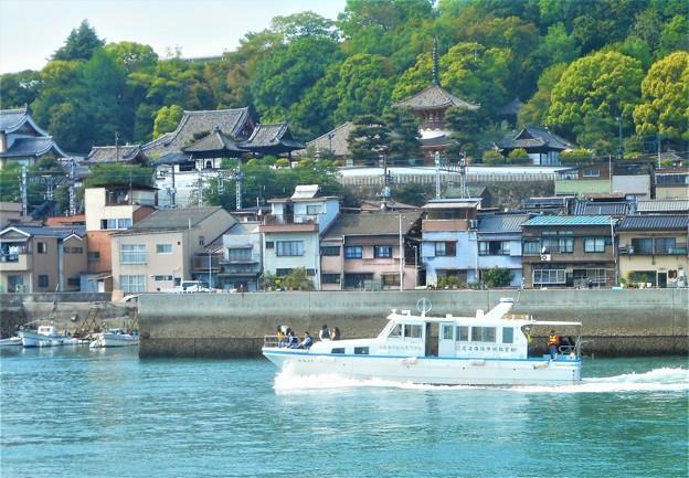 海上から眺めた 浄土寺の伽藍たち@おのみち港まつり