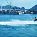 海上パレードに参加したレジャーボート@尾道みなと祭