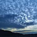 ばら祭の日の夕空に現れたウロコ雲@臨時駐車場(福山競馬場跡地)