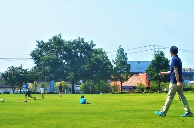 とても平和な日曜日@夏至の三日後@梅雨の晴れ間の公園にて