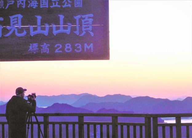山頂展望台の残照@しまなみ海道・因島大橋@高見山