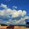 写真: 屋上の夏雲@8月末日のFG