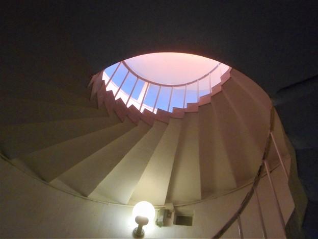 展望台への螺旋(ラセン)階段@瀬戸内海・千光寺山