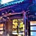 写真: 古刹の山門@佛通寺の紅葉