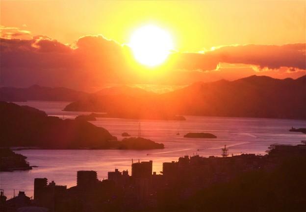 大晦日イブの夕陽@浄土寺山展望台