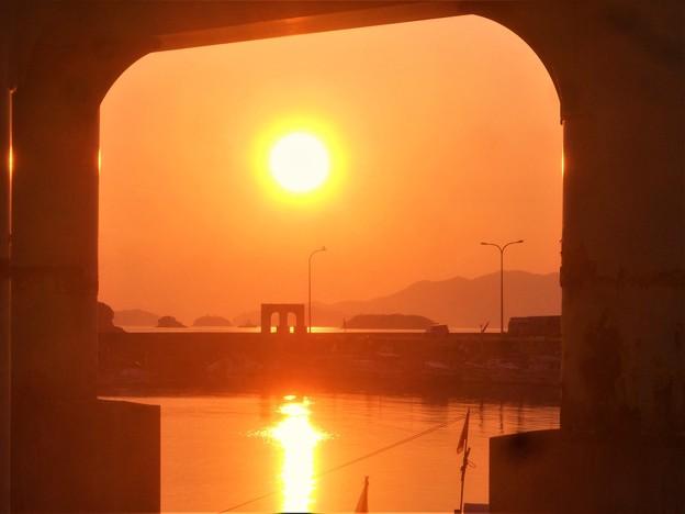 早春の港の夕景@瀬戸内海 '19.01.05