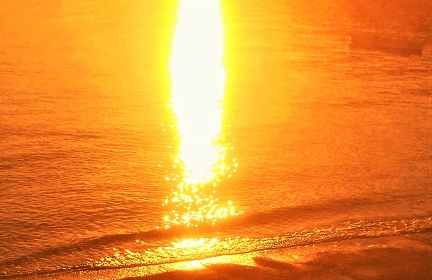 渚の夕陽@瀬戸内海・立花海岸