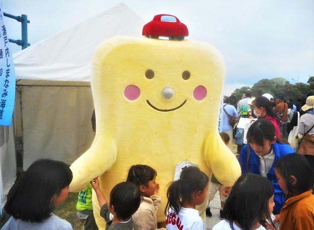 しまなみ海道開通20周年記念で登場した「ゆるキャラ」の名前は。。