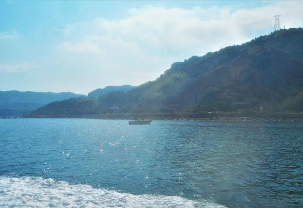 釣り船と夏空@瀬戸内海・燧灘