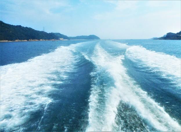 水平線の彼方から@夏の船旅@瀬戸内海・燧灘