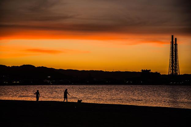 夕焼けのお散歩
