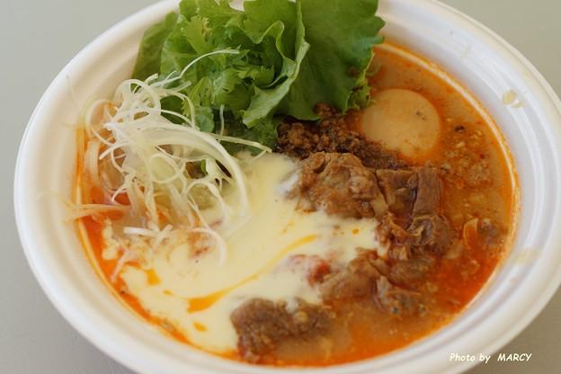 龍のひげ×麺や虎徹@太陽のトマト味噌坦々+フォンデュチーズ+牛筋