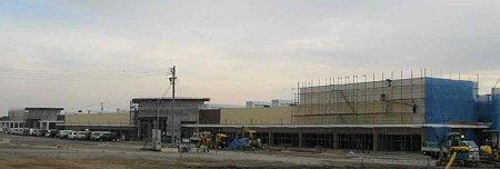 イオンスーパーセンター河芸店 鉄骨組み立て完了外装工事中-201124-1