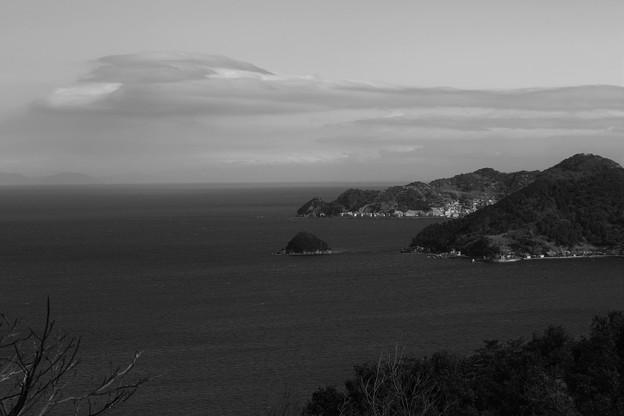写真: 四浦半島「保戸島」モノクロ」