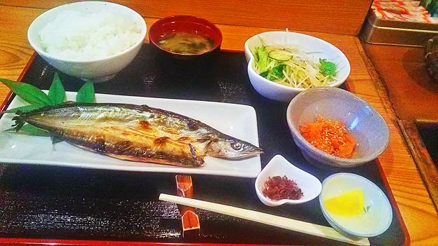 だいこん ( 成増 ) 焼き魚定食( サンマ開き ) 2019/01/15