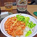 やまだや ( 成増 = やまだ食堂 ) ご飯 + 納豆 ( とん汁定食風 ) 2019/03/12