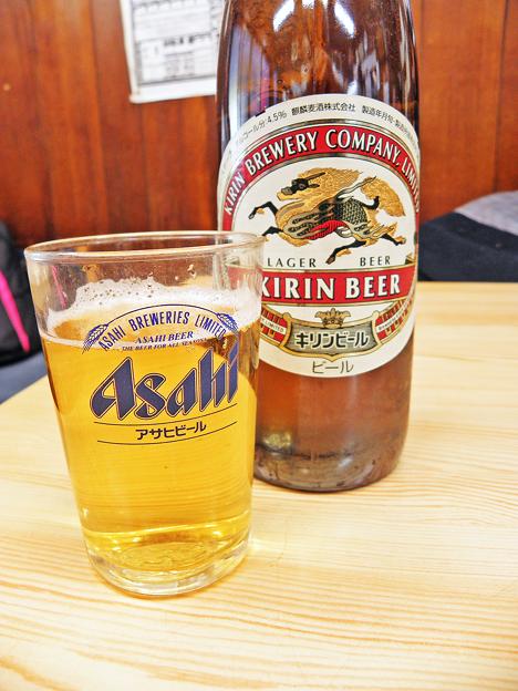 やまだや ( 成増 = やまだ食堂 ) ビール ( キリン・ラガー )  2019/03/12