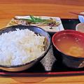 Photos: だいこん ( 練馬区旭町 or 成増 ) 焼魚定食( ご飯 + 味噌汁 ) 2019/03/16